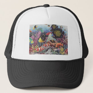 Tropical Coral Fish Dance Trucker Hat