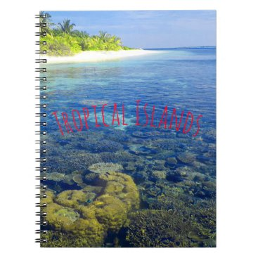 Tropical Coral Island Notebook