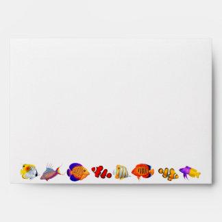 Tropical Coral Reef Aquarium Fish A7 Envelope