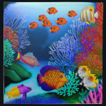 "Tropical Coral Reef Fish American MoJo Napkins<br><div class=""desc"">Original fine art design of colorful saltwater aquarium fish by artist Carolyn McFann of Two Purring Cats Studio printed on quality,  machine-washable napkins for coral reef life fans.</div>"
