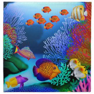 Tropical Coral Reef Fish American MoJo Napkins