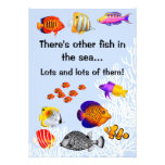 Tropical Coral Reef Fish Divorce Party Invitation