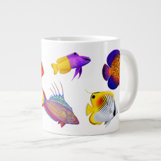 Tropical Coral Reef Fish Specialty Mug Extra Large Mugs