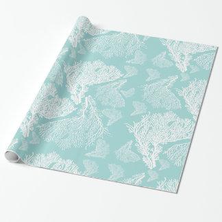 Tropical Coral Sun Print Pattern Gift Wrap