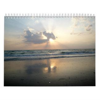 Tropical cottage seaside calendar