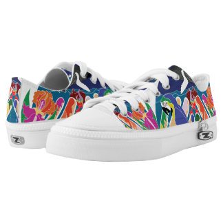 Tropical Creation Lace Up Shoes Printed Shoes