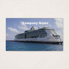 Tropical Cruise Ship Business Card at Zazzle