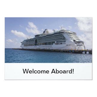 Tropical Cruise Ship Card