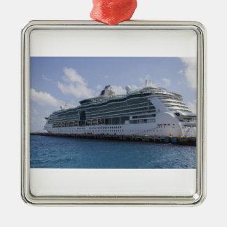 Tropical Cruise Ship Metal Ornament