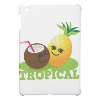 TROPICAL cute Kawaii Coconut and pine iPad Mini Covers