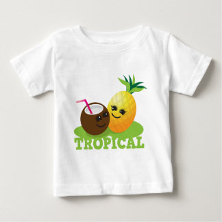 TROPICAL cute Kawaii Coconut and pineapple Infant T-shirt