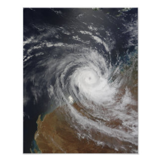 Tropical Cyclone Billy over Australia 2 Poster