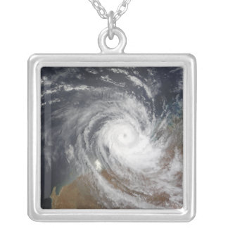 Tropical Cyclone Billy over Australia 2 Silver Plated Necklace