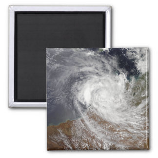 Tropical Cyclone Billy over Australia Fridge Magnets