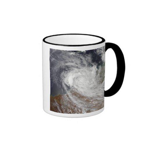 Tropical Cyclone Billy over Australia Ringer Coffee Mug