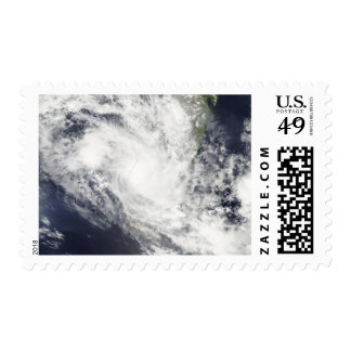Tropical Cyclone Fami hovers over Madagascar Stamp