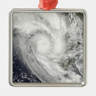 Tropical Cyclone Fanele over Madagascar Metal Ornament