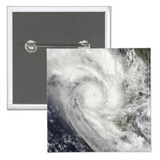 Tropical Cyclone Fanele over Madagascar Pinback Button