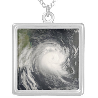 Tropical Cyclone Favio approaching Mozambique Square Pendant Necklace