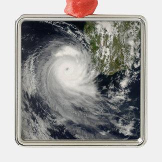 Tropical Cyclone Favio off Madagascar Metal Ornament