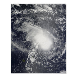 Tropical Cyclone Gael approaching Madagascar Poster