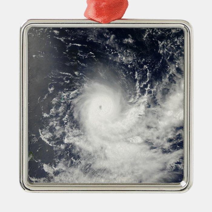 Tropical Cyclone Gelane Metal Ornament