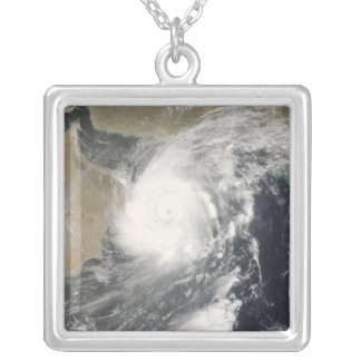 Tropical Cyclone Gonu in the Arabian Sea Silver Plated Necklace