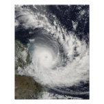 Tropical Cyclone Hamish over Australia Posters