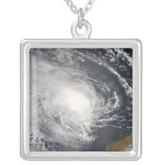Tropical Cyclone Jacob approaching Australia Silver Plated Necklace