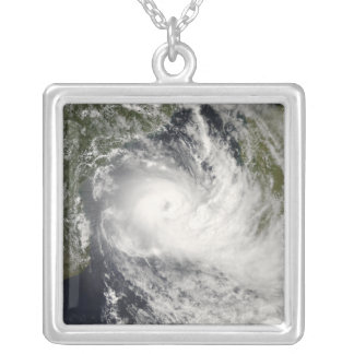 Tropical Cyclone Jokwe in the Mozambique Channe Square Pendant Necklace