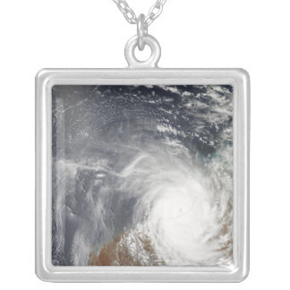 Tropical Cyclone Laurence over Western Australi Silver Plated Necklace