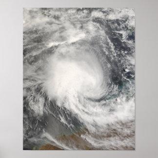 Tropical Cyclone Nicholas approaching Australia Poster