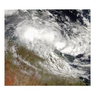 Tropical Cyclone Olga over northeast Australia Photo Print