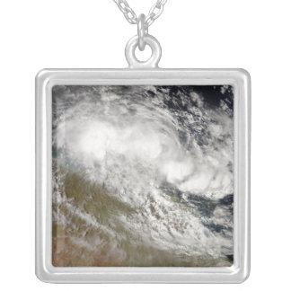 Tropical Cyclone Olga over northeast Australia Square Pendant Necklace