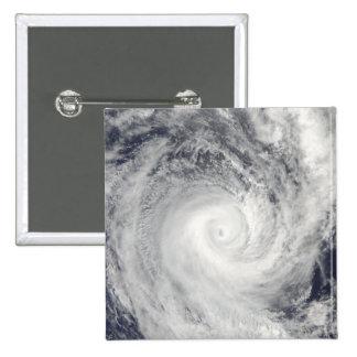 Tropical Cyclone Oli off the coast of Tahiti 2 Inch Square Button
