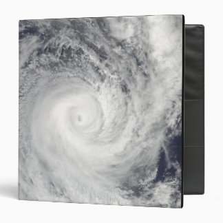 Tropical Cyclone Oli off the coast of Tahiti 3 Ring Binder