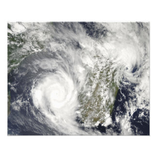 Tropical Cyclones Eric and Fanele 2 Photo Print