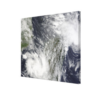Tropical Cyclones Eric and Fanele Canvas Print