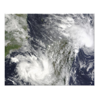 Tropical Cyclones Eric and Fanele Photo Print