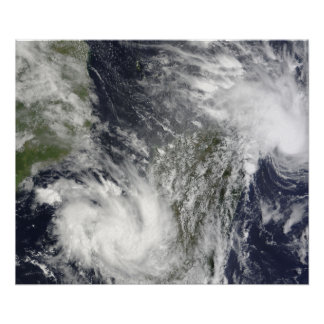 Tropical Cyclones Eric and Fanele Poster