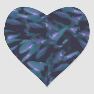 Tropical Dark Pattern Heart Sticker