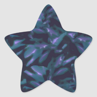 Tropical Dark Pattern Star Sticker