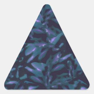 Tropical Dark Pattern Triangle Sticker
