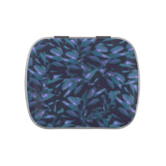 Tropical Dark Patterned Candy Tin