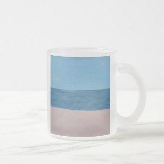 tropical dawn 10 oz frosted glass coffee mug