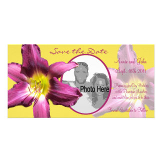Tropical Daylily Save the Date Photo Greeting Card