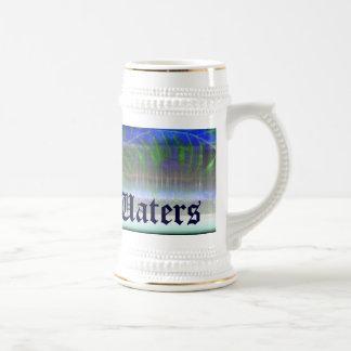 ~ tropical de las aguas en Stein blanco Tazas De Café