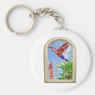 Tropical Delight Basic Round Button Keychain
