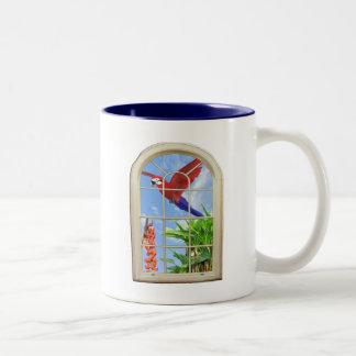 Tropical Delight Two-Tone Coffee Mug