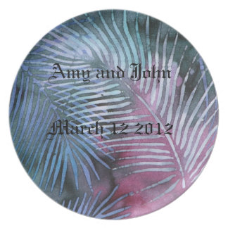 Tropical Design Wedding Plate